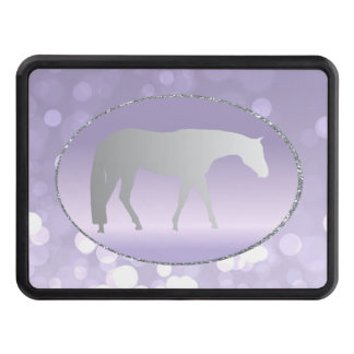 Silver Western Pleasure Horse on Purple Brokeh Tow Hitch Covers