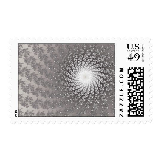 Silver Whirlpool2 Postage Stamp