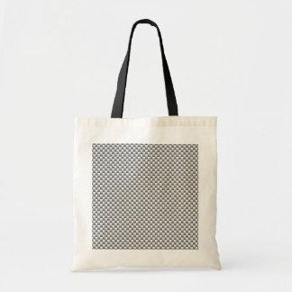 Silver White Carbon Fiber Print Tote Bag