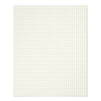 SILVER WHITE CREAM HOUNDSTOOTH PATTERNS TEXTURES T FULL COLOR FLYER