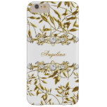 Silver White Gold Diamond Jewel Barely There iPhone 6 Plus Case