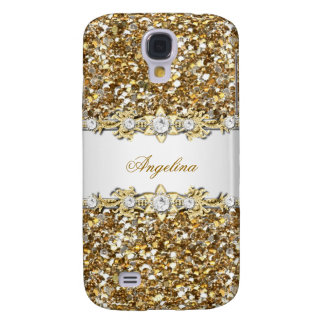 Silver White Gold Diamond Jewel Glitter Samsung Galaxy S4 Case
