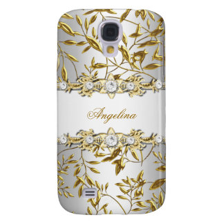 Silver White Gold Diamond Jewel Image Samsung S4 Case