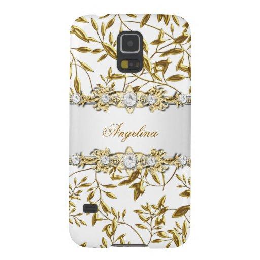 Silver White Gold Diamond Jewel Samsung Galaxy S5 Galaxy S5 Cover