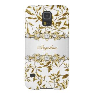 Silver White Gold Diamond Jewel Samsung Galaxy S5 Galaxy S5 Cases