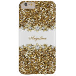 Silver White Gold Faux Diamond Jewel Glitter Barely There iPhone 6 Plus Case
