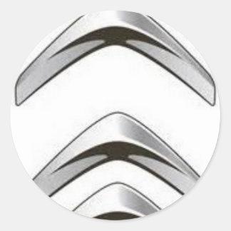 Silver white grey forward upward signal sig classic round sticker
