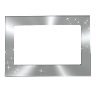 SILVER WHITE SATIN MAGNETIC PHOTO FRAME