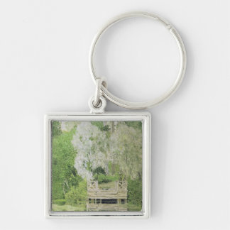Silver White Willow, 1904 Silver-Colored Square Keychain