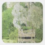 Silver White Willow, 1904 Square Sticker