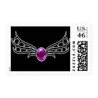 Silver Winged Gothic Jewel fantasy postage