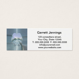 Silver Wings Wrapped Around a Heart Mini Business Card