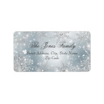 Silver Winter Wonderland Christmas Address Labels