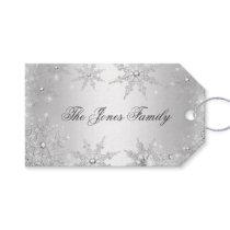 Silver Winter Wonderland Christmas Gift Tags