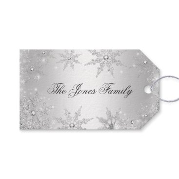 Christmas Themed Silver Winter Wonderland Christmas Gift Tags