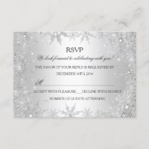 Silver Winter Wonderland Christmas Holiday RSVP
