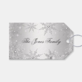 Silver Winter Wonderland Christmas Pack Of Gift Tags