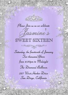 purple invitations zazzle