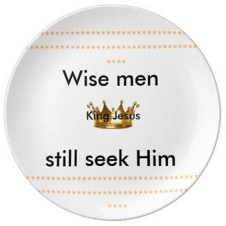 Silver Wise men still seek Him decorative plate