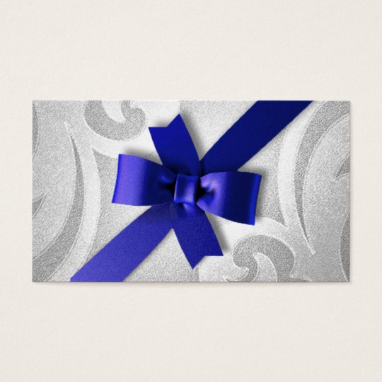 Silver with Blue Bow Gift Tag