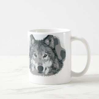 Silver Wolf Classic White Coffee Mug