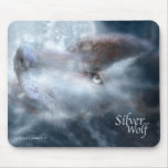 Silver Wolf Mousepad