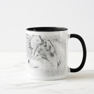"""Silver Wolf with """"A Wolf's Creed"""" Mug"""