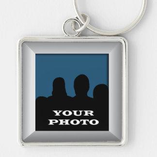 Silver Your Photo Frame Premium Keychain