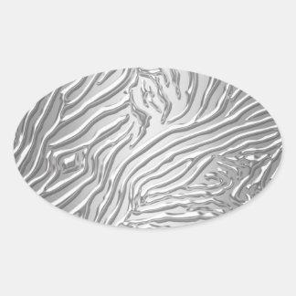 Silver Zebra Party Favor Label Envelope Seal Stick Oval Sticker