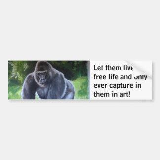 Silverback Gorilla Bumper Sticker