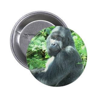 silverback Gorilla Pinback Button