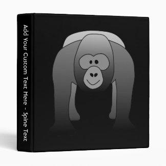 Silverback Gorilla Cartoon 3 Ring Binder