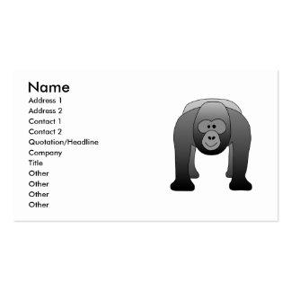 Silverback Gorilla Cartoon Business Card