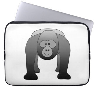Silverback Gorilla Cartoon Laptop Sleeve