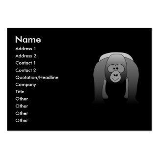Silverback Gorilla Cartoon Large Business Card
