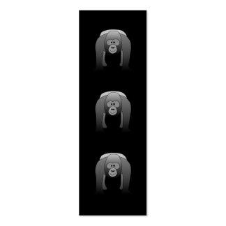 Silverback Gorilla Cartoon Mini Business Card