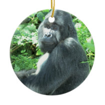 silverback Gorilla Ceramic Ornament