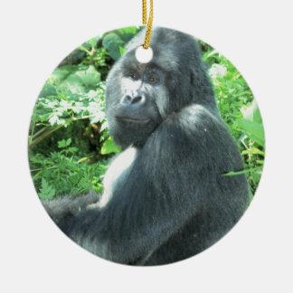 silverback Gorilla Ceramic Ornament