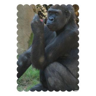 Silverback Gorilla Personalized Invite