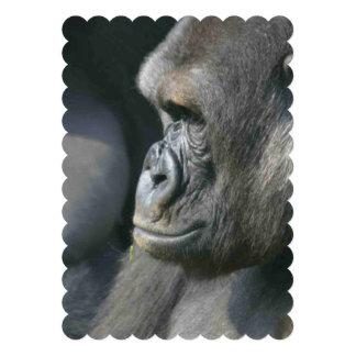 Silverback Gorilla Custom Invitation