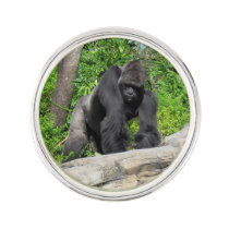 Silverback Gorilla Lapel Pin