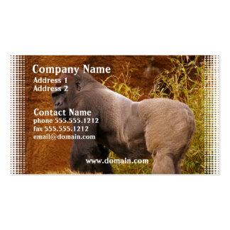 Silverback Gorilla Photo Business Card