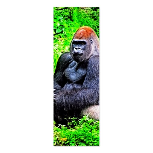 Silverback Gorilla Photo Painting Double-Sided Mini Business Cards (Pack Of 20)