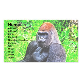 Silverback Gorilla Photo Painting Business Card