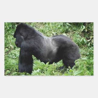 Silverback gorilla photo sticker