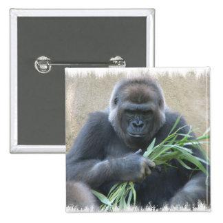 Silverback Gorilla Square Pin
