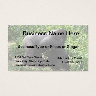 Silverback Gorilla walking sideway Business Card