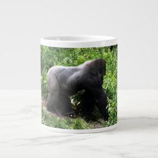 Silverback Gorilla walking sideway Giant Coffee Mug