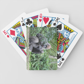 silverback gorillas bicycle card deck