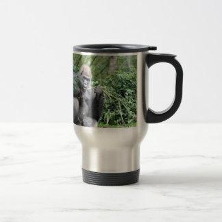silverback gorillas 15 oz stainless steel travel mug